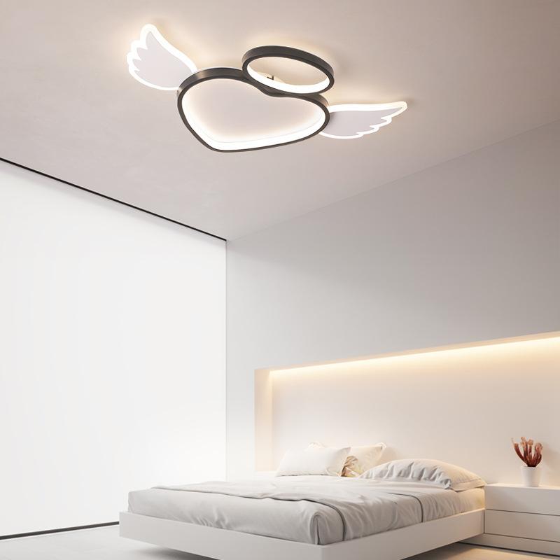 小天使卡通吸顶灯现代简约创意卧室灯亚克力书房儿童房间吸顶灯饰