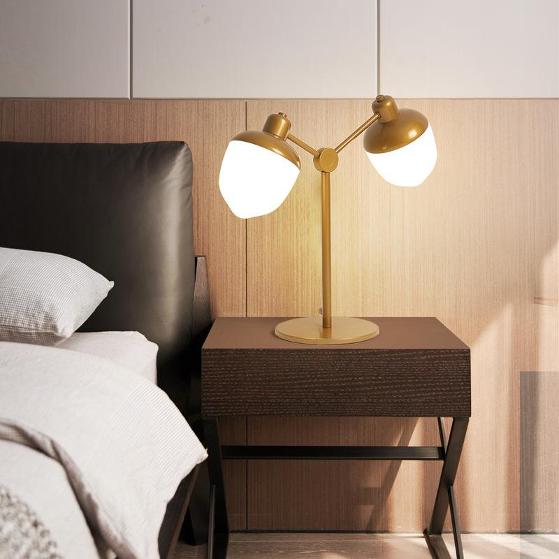 LED后现代创意客厅双头亚克力台灯北欧书房餐厅卧室床头装饰台灯