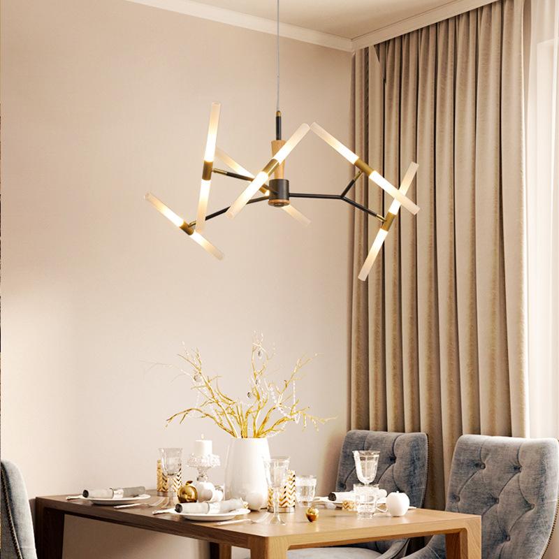 餐厅吊灯led极简约现代大气创意个性饭桌长条小吧台北欧时尚灯具