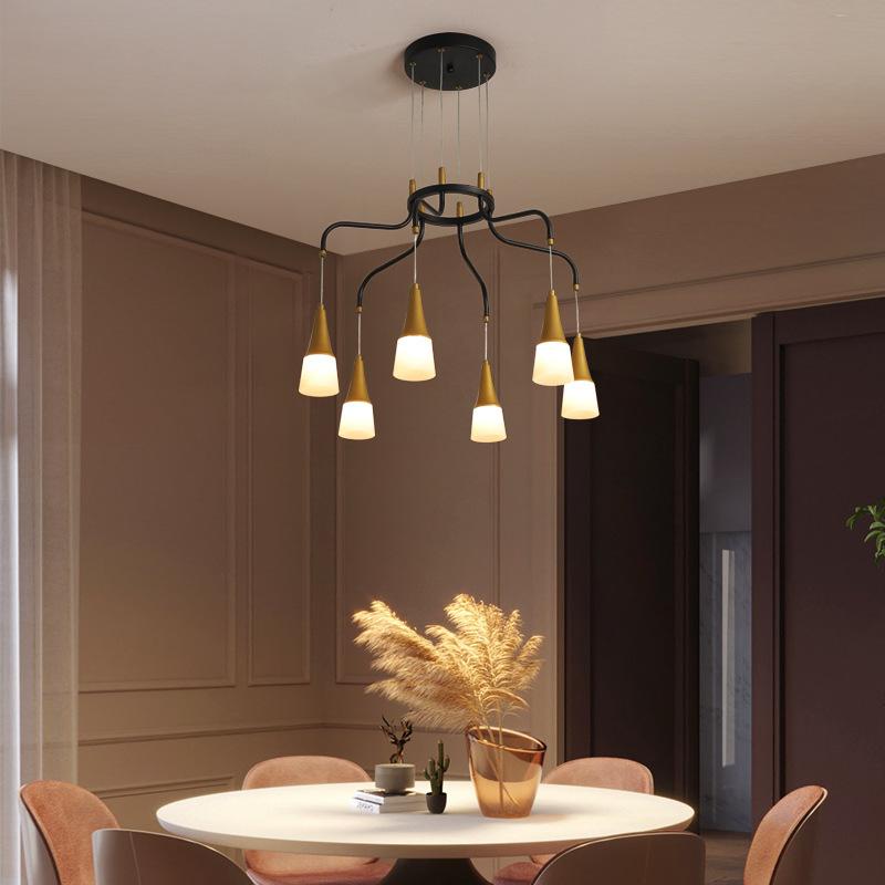 后现代简约创意时尚客厅餐厅灯具别墅酒店书房美式轻奢铁艺吊灯