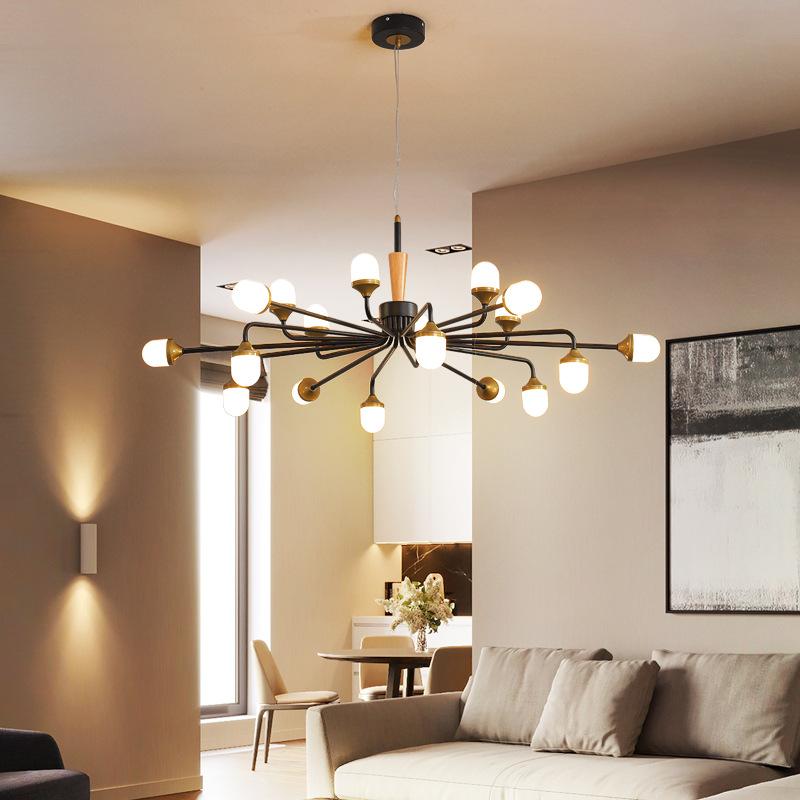 北欧吊灯轻奢创意亚克力后现代简约时尚美式新元素客厅餐厅吊灯