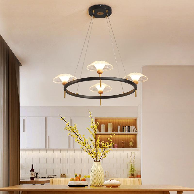 现代简约客厅吊灯创意个性圆环吊线餐吊灯艺术家用后现代餐厅灯具