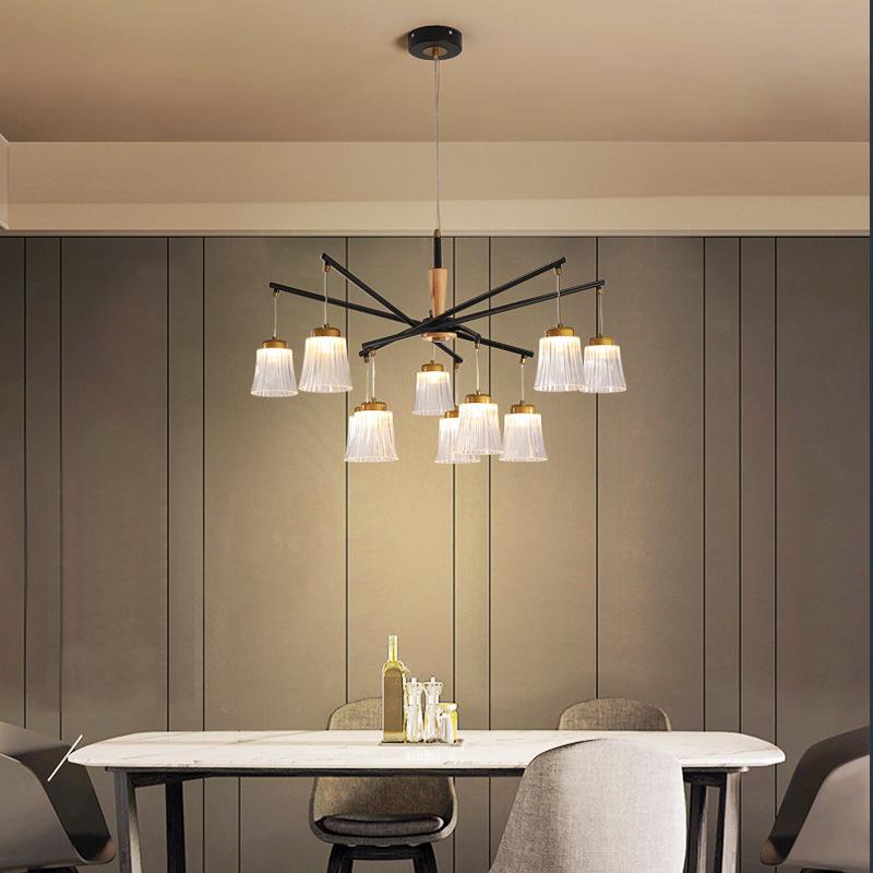 新中式后现代轻奢客厅吊灯饭厅灯网红灯饰餐厅卧室led吊灯创意灯