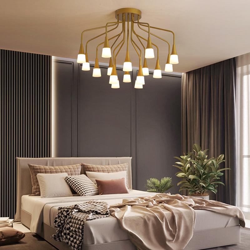 美式轻奢客厅灯餐厅吊灯简约现代led复古灯创意个性饭厅餐桌灯具