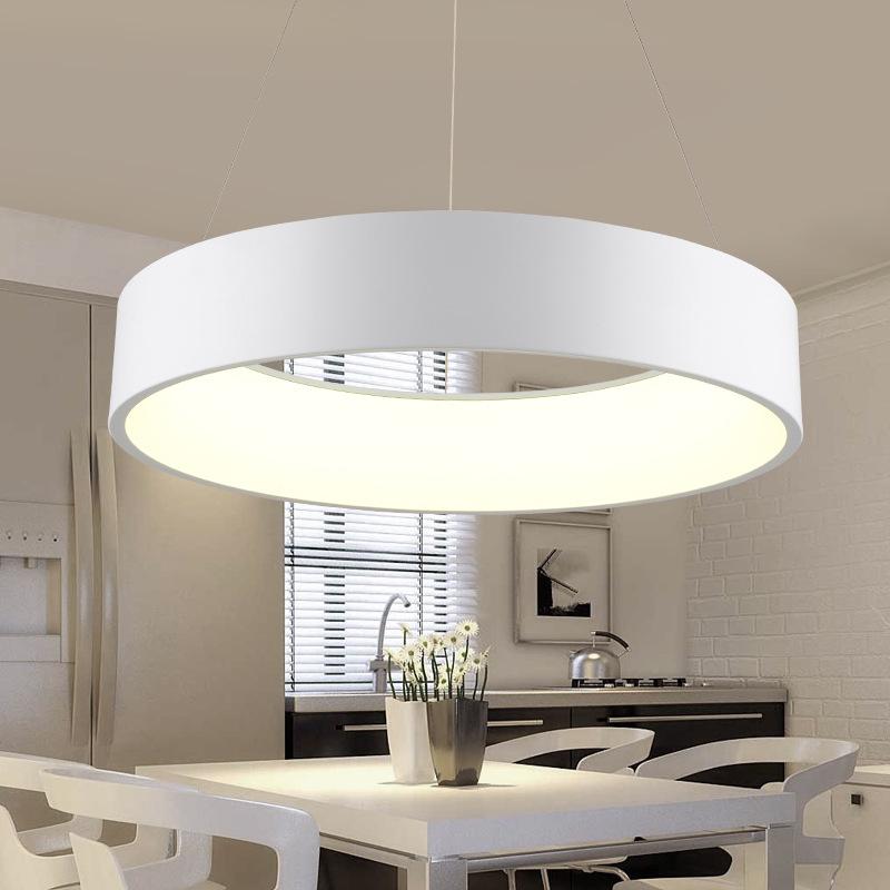 现代时尚环形创意led吊灯 出口卧室餐厅吊灯连锁餐饮门店卖场灯饰