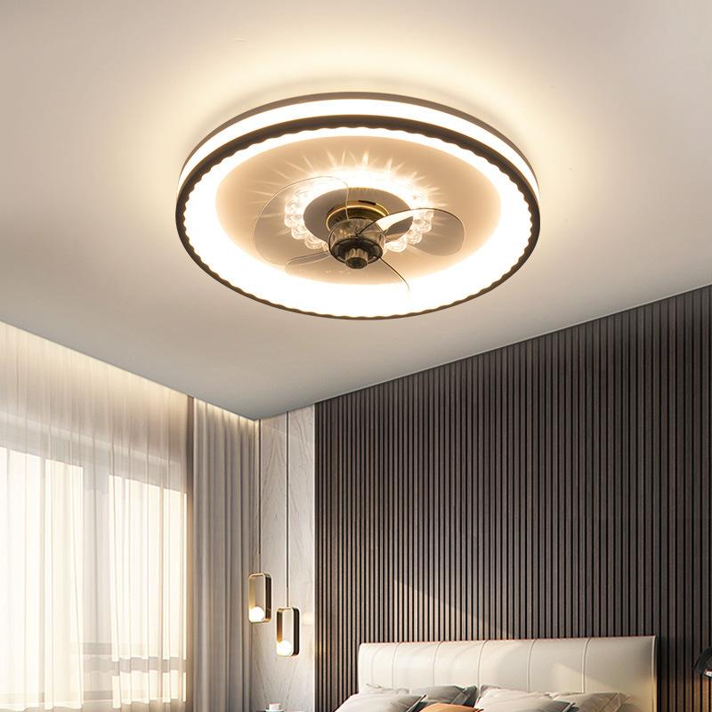 吸顶风扇灯 简约现代客厅餐厅吸顶一体风扇灯 北欧卧室灯风扇灯