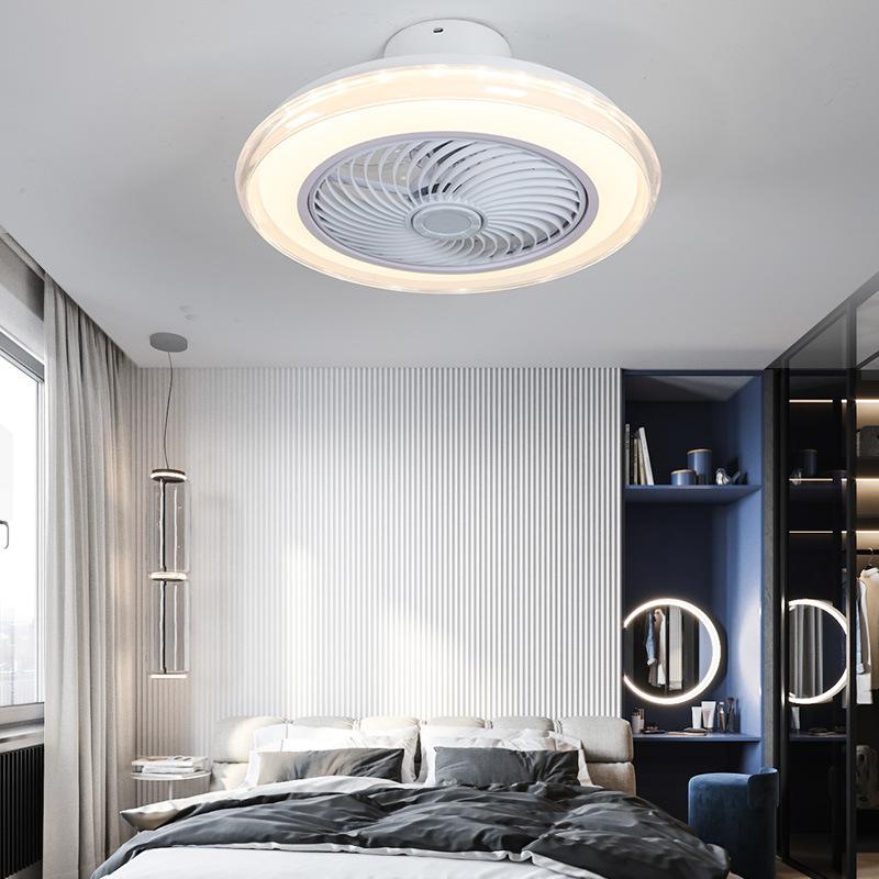 现代简约led吸顶风扇灯创意儿童房客厅风扇灯led主卧室吸顶风扇灯