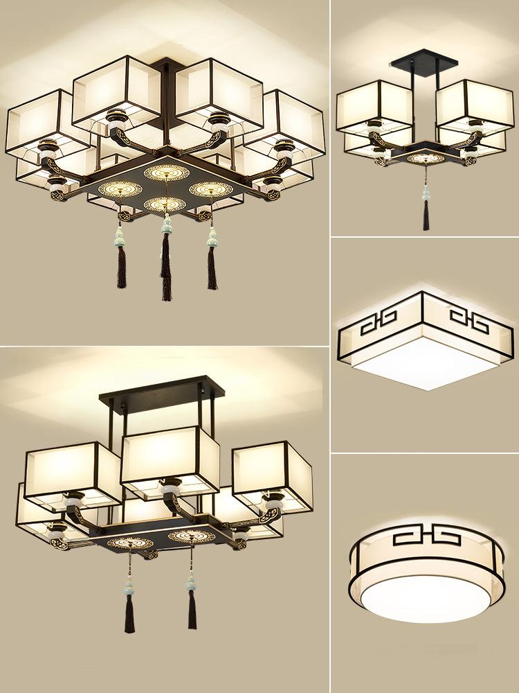 新中式吊灯客厅灯2020年新款餐厅卧室轻奢创意个性禅意中国风灯具