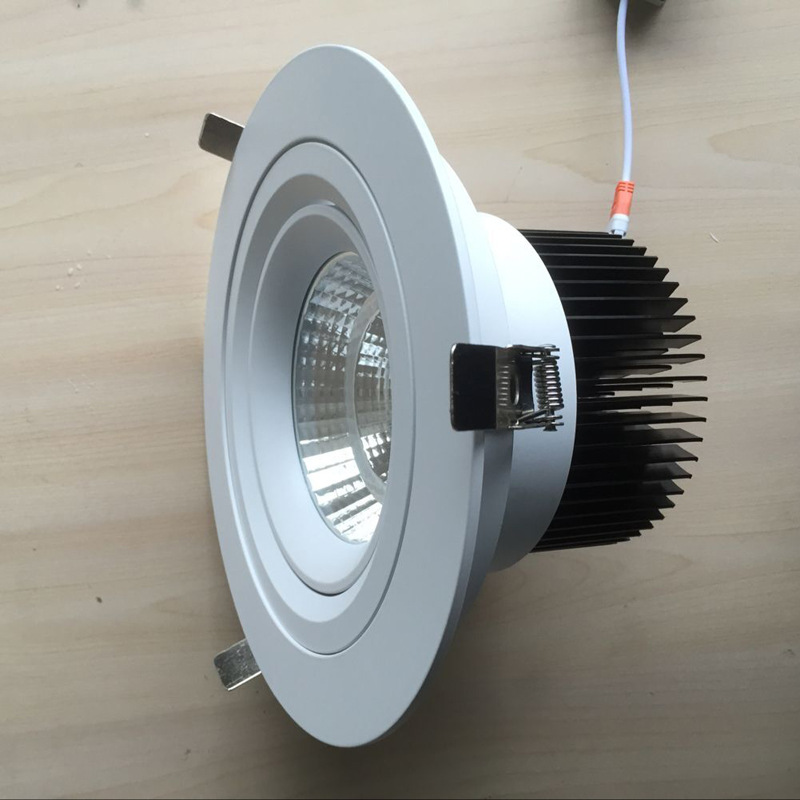 非标工程COB射灯外壳套件 8寸COB筒灯配件 万向调角度COB射灯