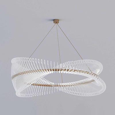 现代轻奢客厅个性吊灯北欧简约卧室书房餐厅设计师样板间圆圈吊灯