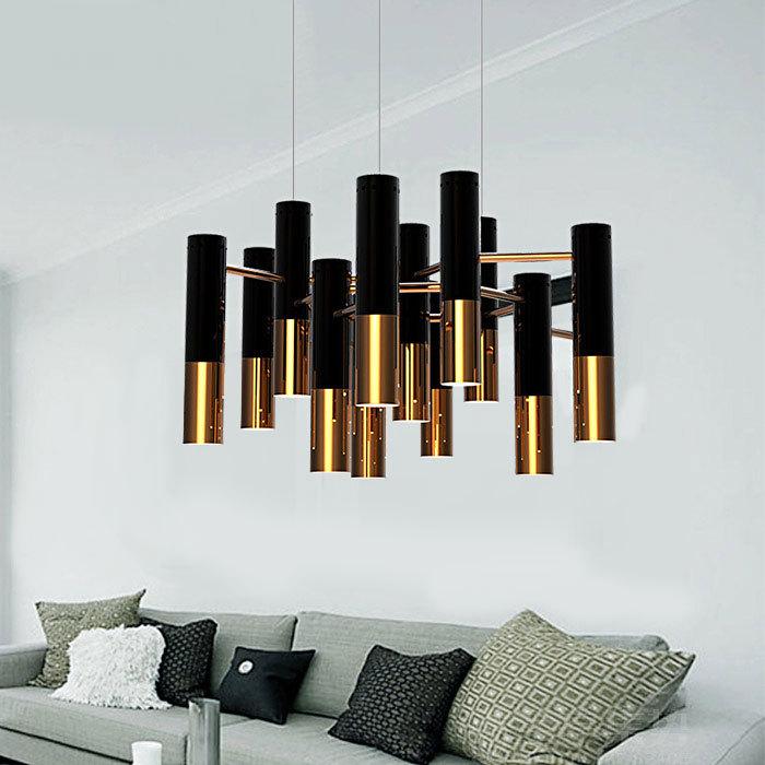 后现代创意个性水管吊灯咖啡馆餐厅客厅酒店吧台别墅工业吊灯