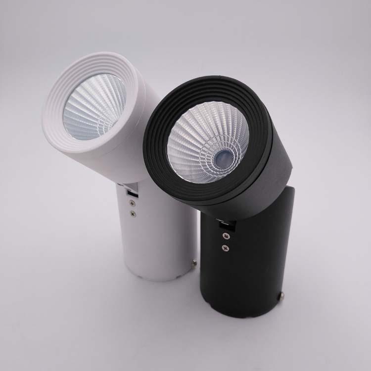 吸顶明装射灯外壳 轨道射灯配件 万向折叠压铸筒灯配件 射灯外壳