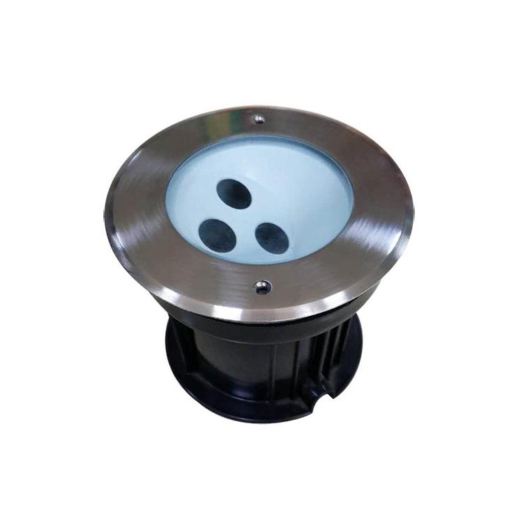 LED偏光埋地灯外壳3W6W12W18W24W户外防水地埋灯压铸不锈钢面