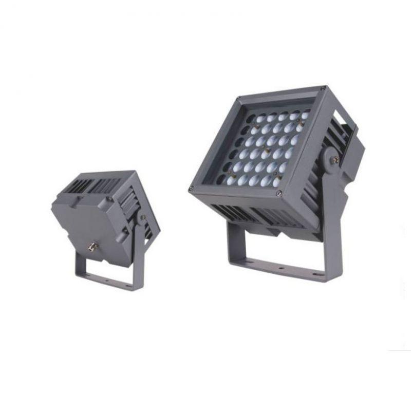 方形厚料LED投光灯外壳36W*2led射灯72W140W可拼接户外防水厂家