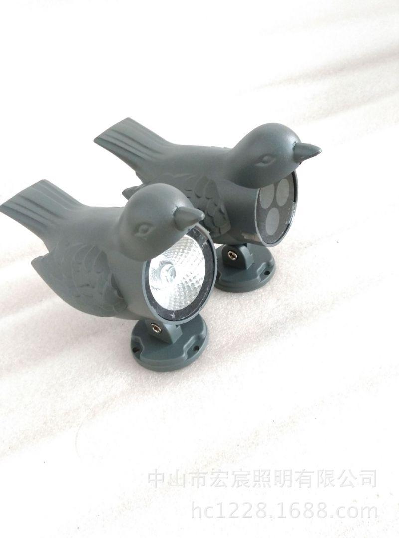 LED3W 6W 户外防水 瓦楞灯 月亮灯 瓦檐灯 吉祥鸟套件