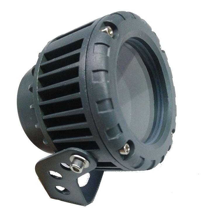LED投光灯外壳 led射灯外壳 5W铝压铸圆形户外防水投光灯外壳套件