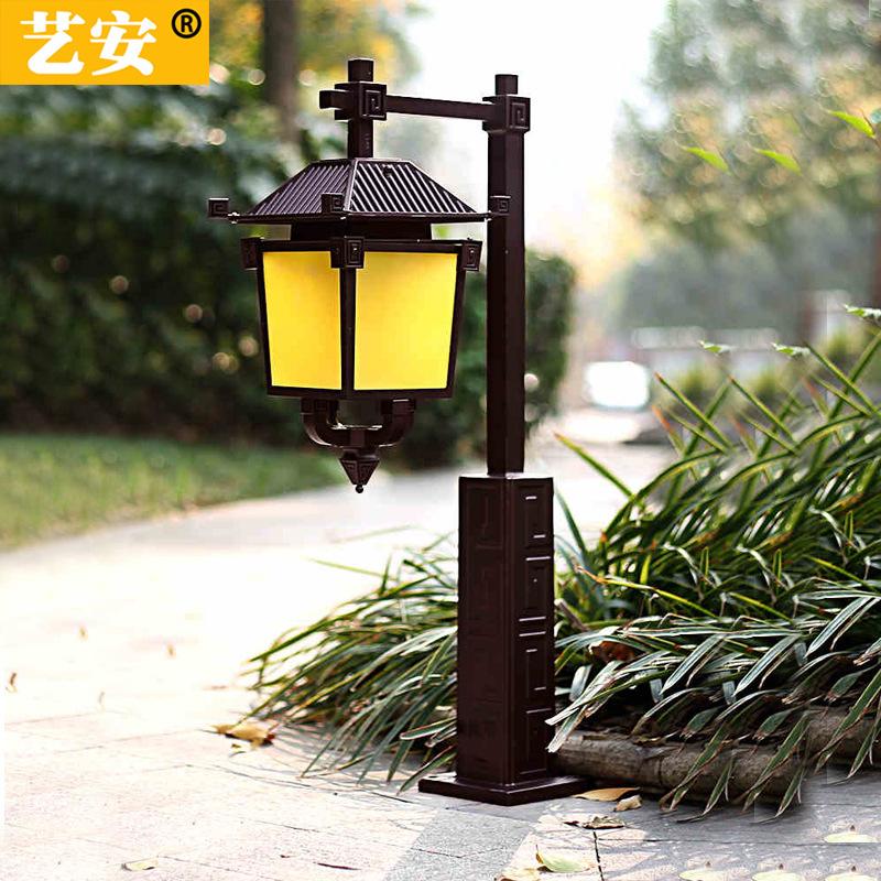 仿古草坪灯户外路灯庭院灯小区路灯现代中式草地灯花园别墅灯家用