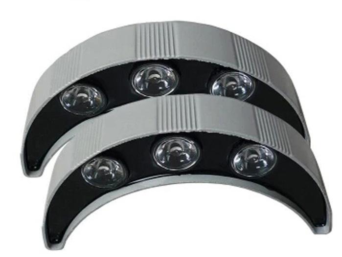 3W5W户外防水瓦片灯月亮灯屋顶瓦面灯凉亭装饰月牙灯 LED瓦楞灯