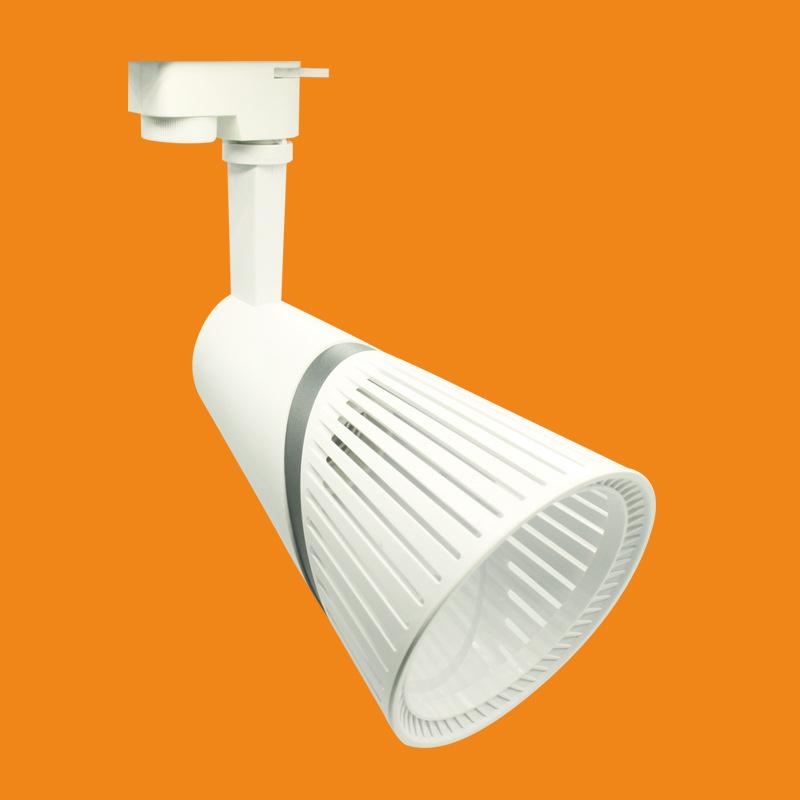 LED轨道射灯灯架外壳P30白色黑色塑料PC料塑胶带灯头架子LED射灯