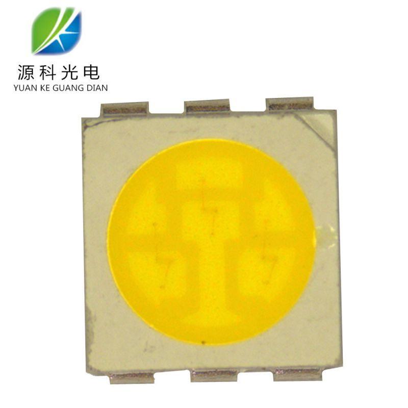 LED厂家热销0.2W白光5050灯珠抗静电力强可批发正品金线5050白光