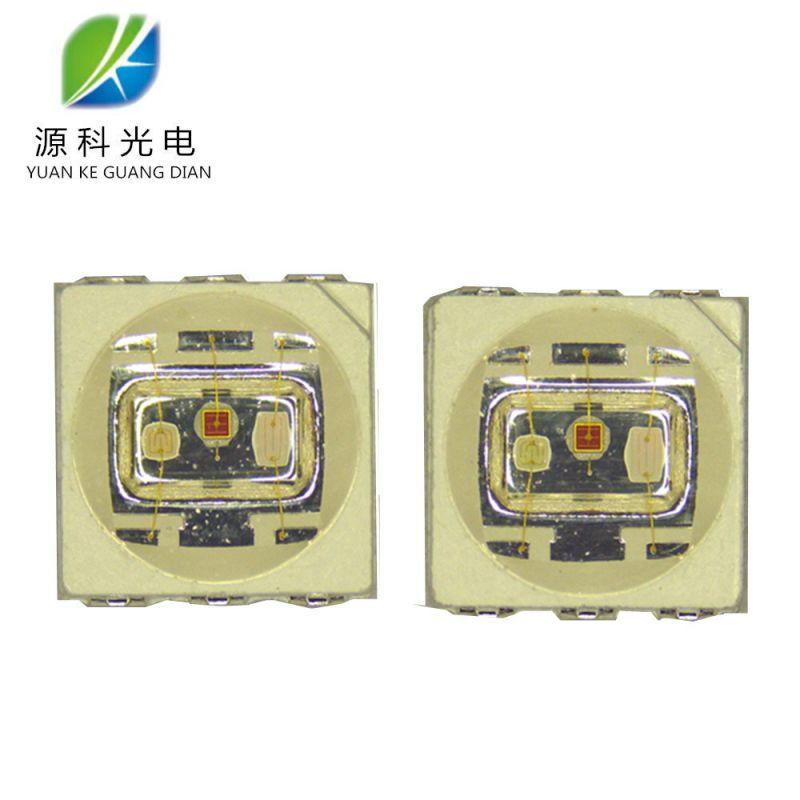 厂家现货出售5050RGB1.5W灯珠 1.5W全彩七彩RGB纯金线封装