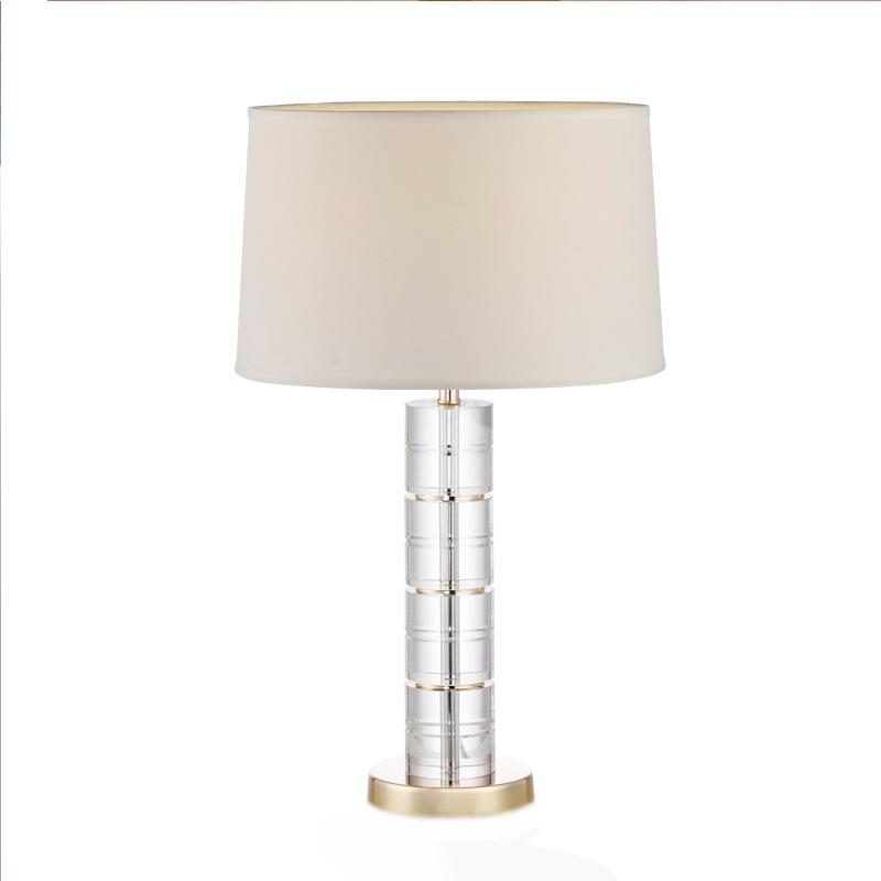 轻奢现代简约卧室床头灯欧式高档时尚温馨浪漫客厅奢华水晶台灯