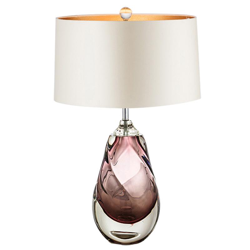 北欧轻奢琉璃创意设计师卧室简约样板房间酒店床头后现代装饰台灯