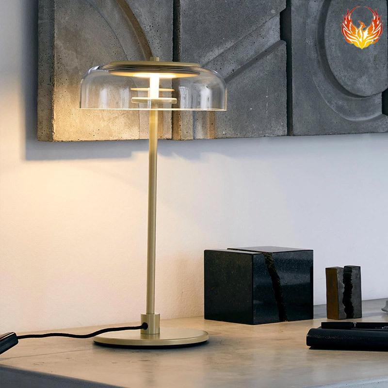 北欧客厅玻璃现代创意卧室床头LED灯具 设计师样板房简约装饰台灯