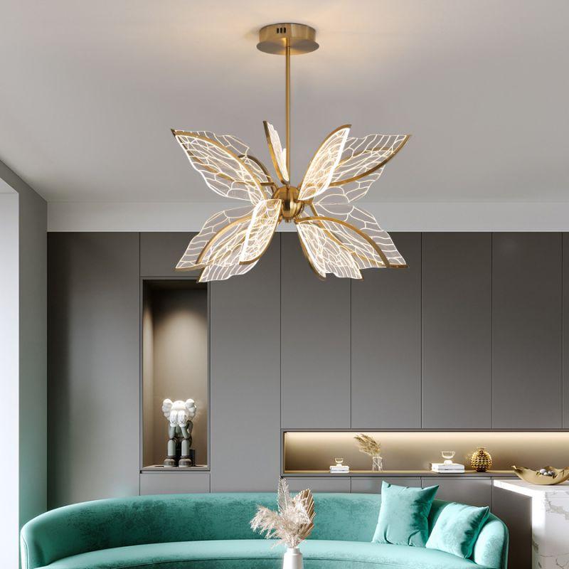 北欧客厅吊灯 现代创意设计师翅膀造型灯具个性简约led卧室餐厅灯