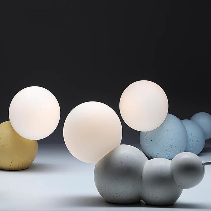 卧室床头装饰led灯北欧设计师客厅水磨石玻璃灯 创意卡通虫子台灯