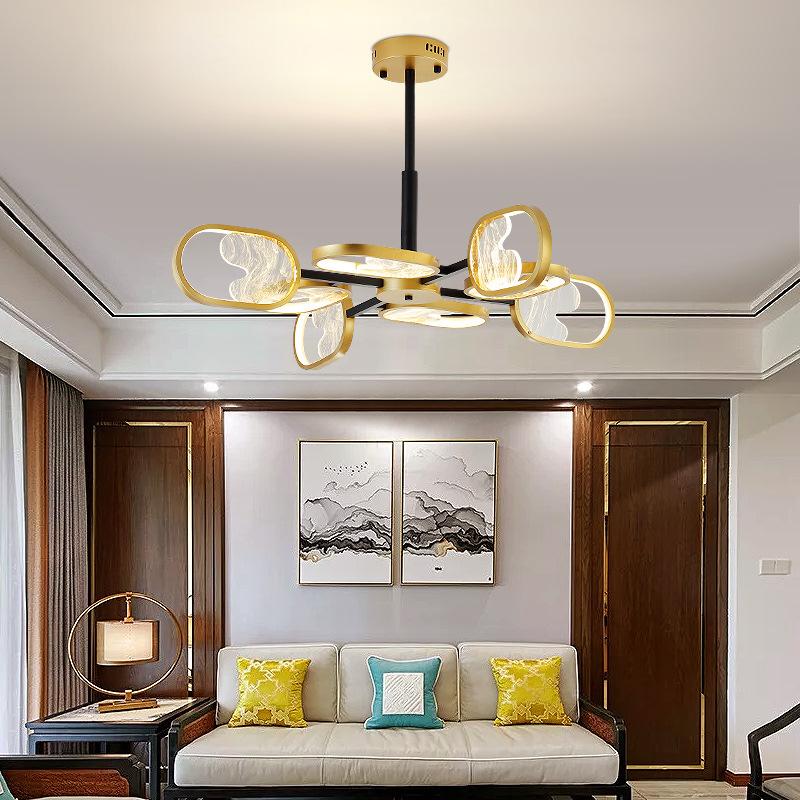 现代中国风客厅灯具简约书房茶室卧室禅意个性餐厅灯新中式吸顶灯