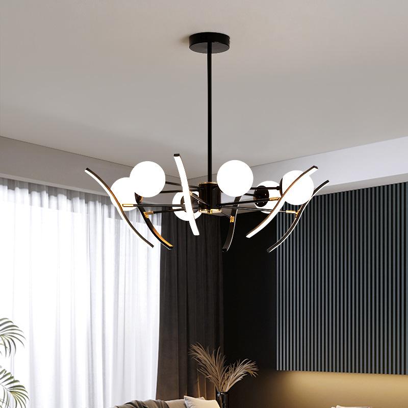 北欧个性餐厅灯 简约现代家用装饰卧室书房灯创意客厅led魔豆吊灯
