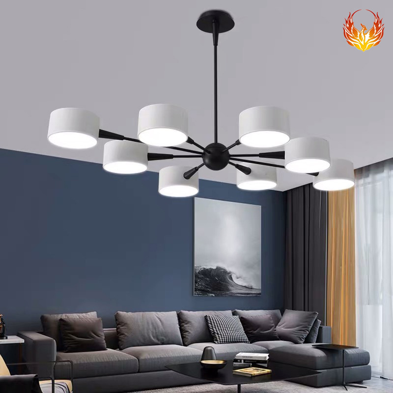 创意设计师铁艺灯个性家用北欧餐厅卧室LED灯具 现代简约客厅吊灯