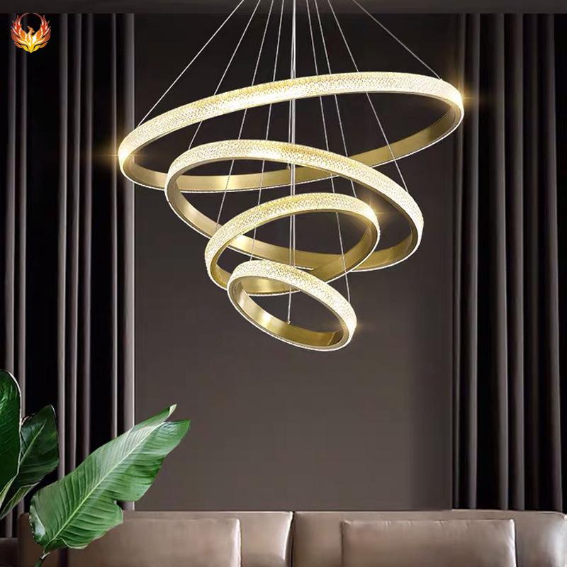 后现代简约客厅餐厅灯具创意个性别墅酒店卧室美式轻奢亚克力吊灯