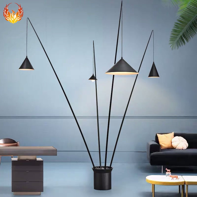 创意个性设计师客厅led落地灯 现代简约书房装饰北欧钓鱼立式灯具