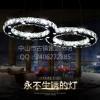卡伯森八字形简约LED客厅吊灯现代餐厅灯水晶吊灯具婚房