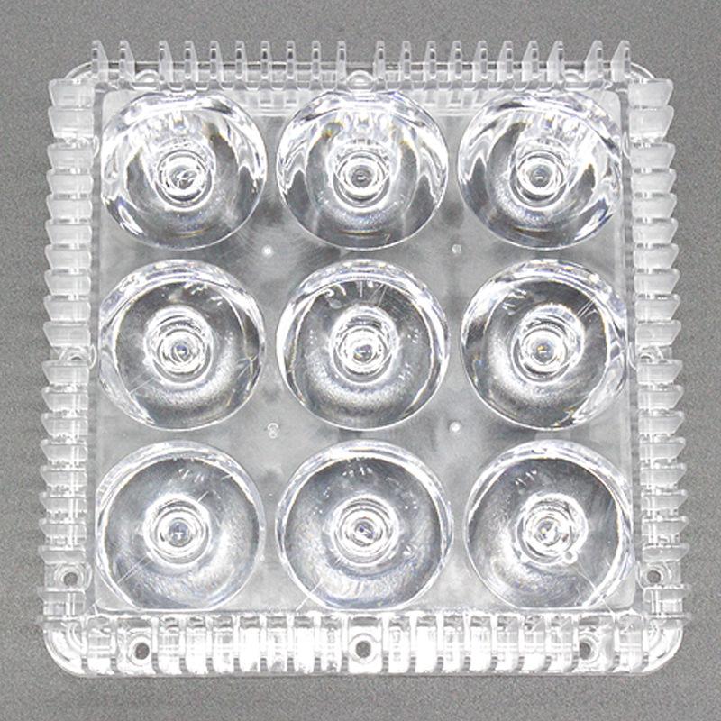 定制Led9W5度投光灯透镜 一束光照墙灯隧道灯路灯户外庭院灯透镜