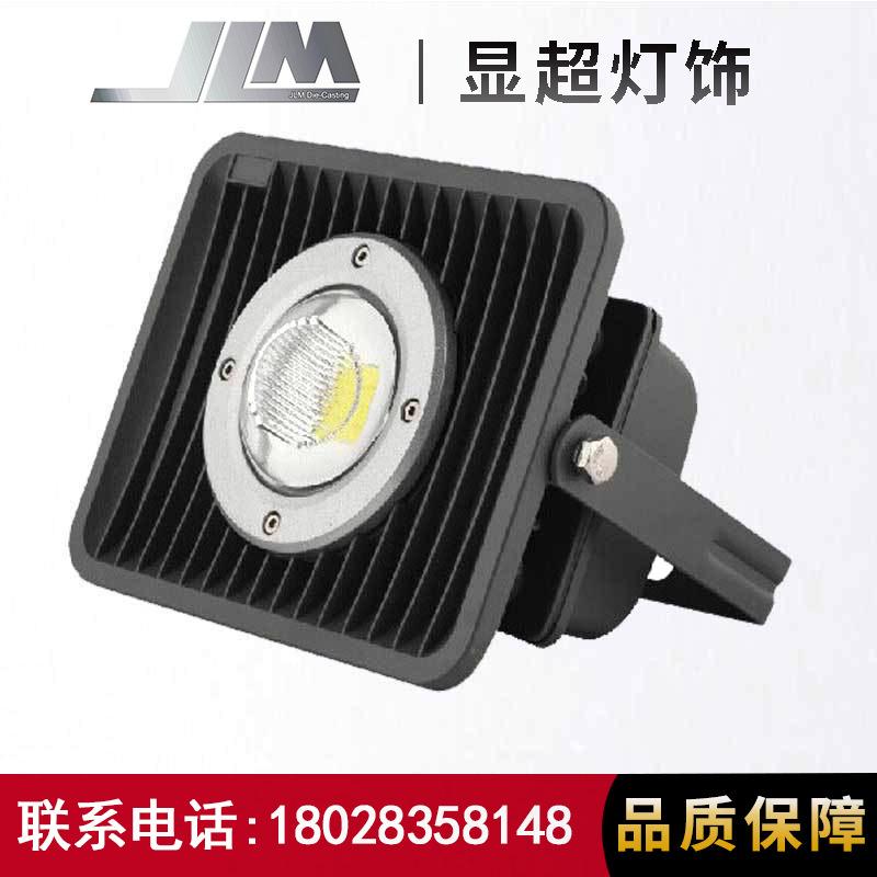 投光灯灯50W COB集成 LED投光灯套件太阳花投光灯透镜款投射灯