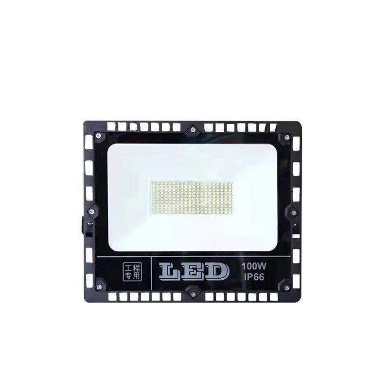 厂家供应花边纳米反光片LED贴片100w投光灯 厚料足瓦新款泛光灯