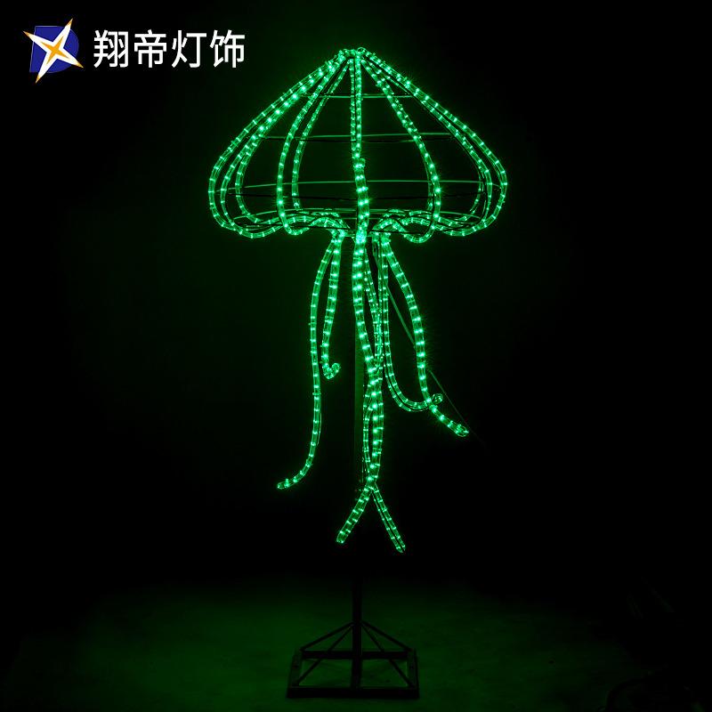 LED动物造型灯 水母装饰灯 3D动物灯 滴胶造型灯