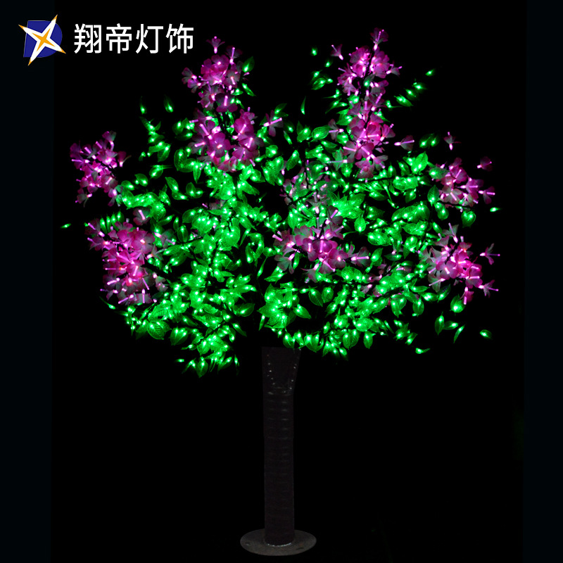 LED光纤树景观灯 景观装饰灯光节光纤灯仿真树造型灯会展公园户外