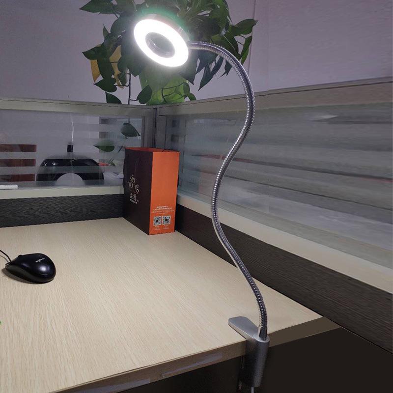 夹子台灯LED护眼灯小学生书桌灯宿舍 寝室床头可夹式调光阅读台灯