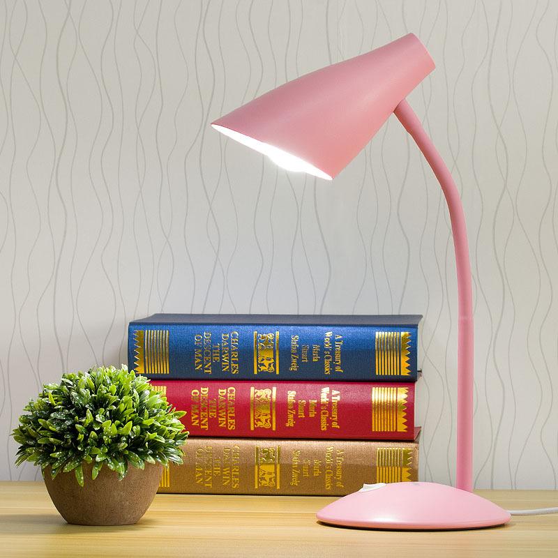 led台灯护眼书桌大学生宿舍折叠礼品护眼插电式E27灯泡台灯