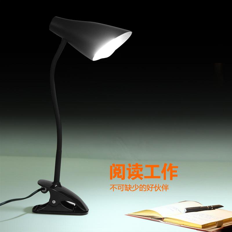 工厂批发LED夹子护眼台灯 学生宿舍书桌卧室床头阅读台灯创意礼品