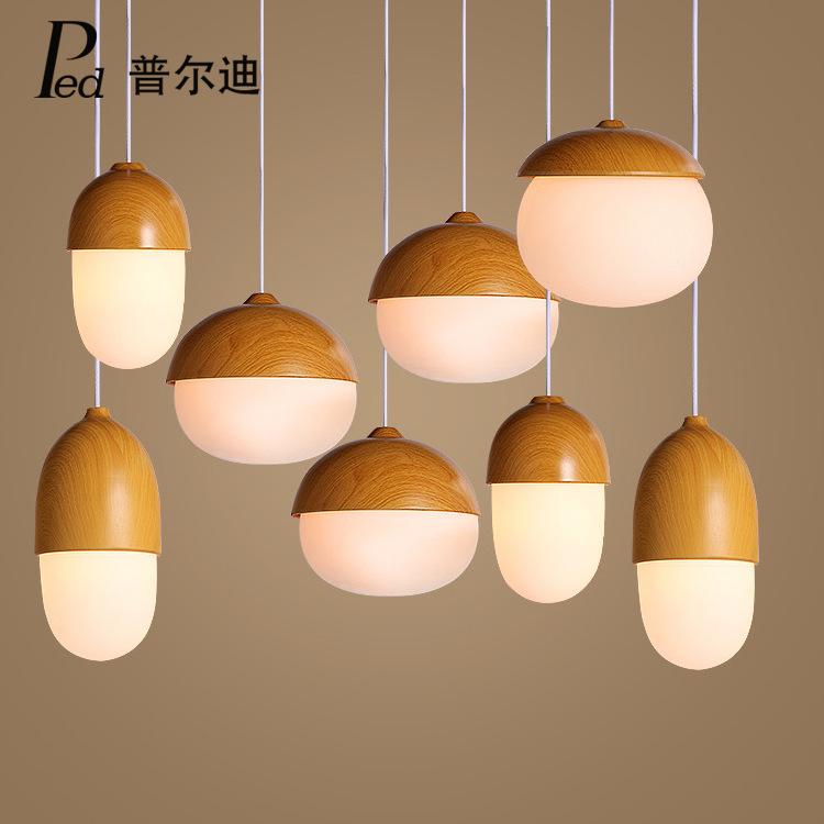 后现代玻璃灯饰咖啡厅吧台客厅灯具北欧创意个性led单头坚果吊灯
