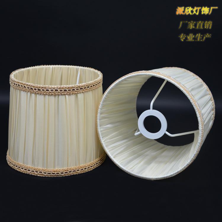 中山古镇厂家批发爆款美欧式出口E14螺旋口高档手乱折布艺灯罩