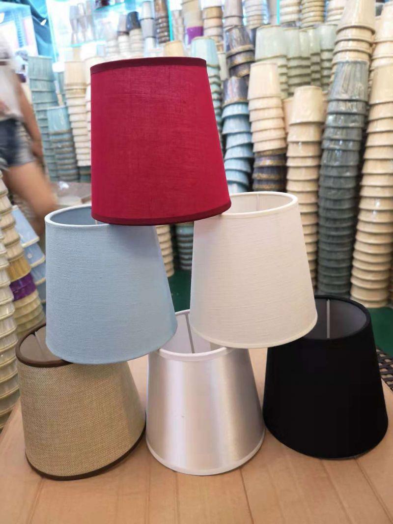 E14灯头圆圈介子水晶锌铜吊灯壁灯迷你台灯PVC平贴罩胶片布灯罩子
