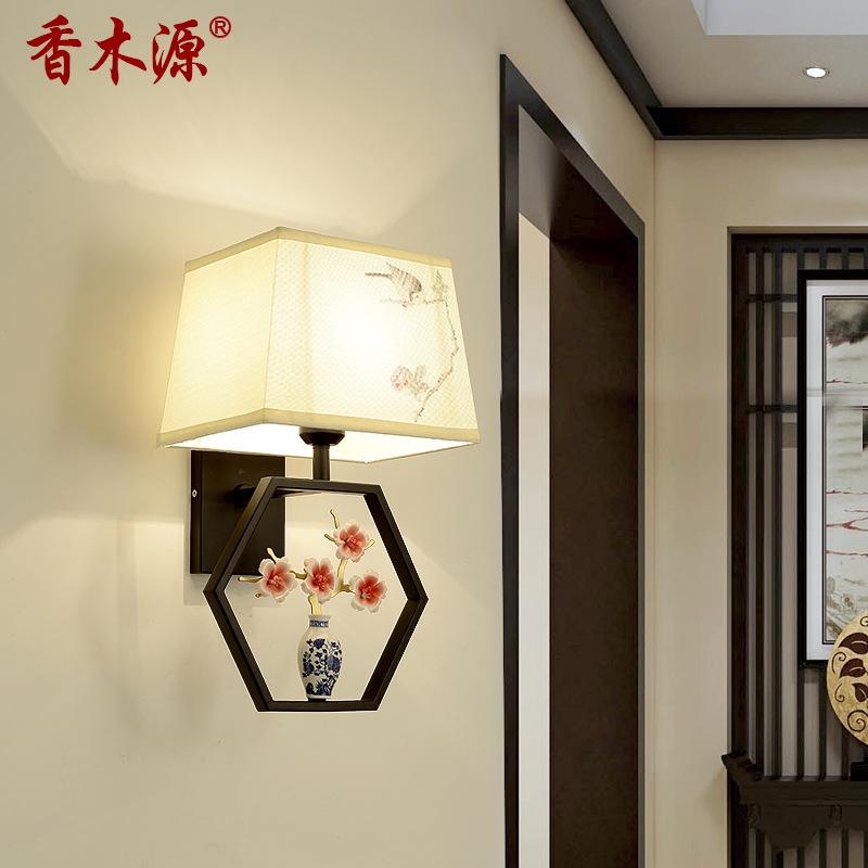 新中式壁灯客厅简约卧室床头灯过道楼梯工程电视背景墙壁灯具2026
