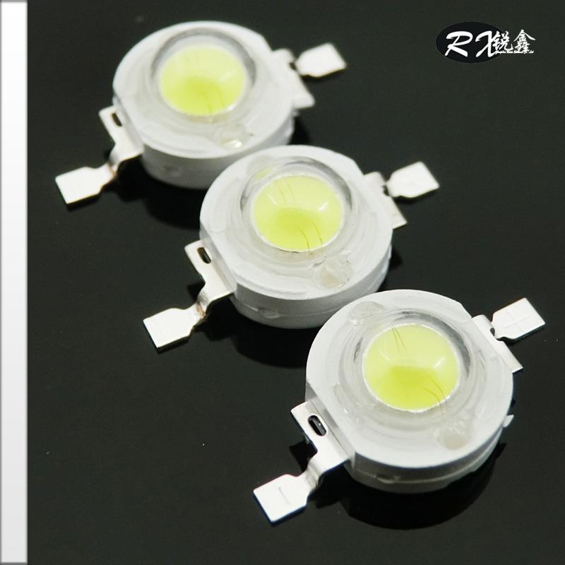 爆款厂家供应1W大功率红光led灯珠 各色 65-75LM台湾进口芯片封装