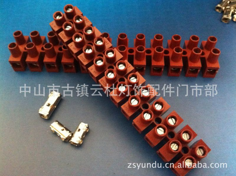 厂家供应 端子台 接线排接线柱 PA7-12P/PA9-12P 耐高温红色